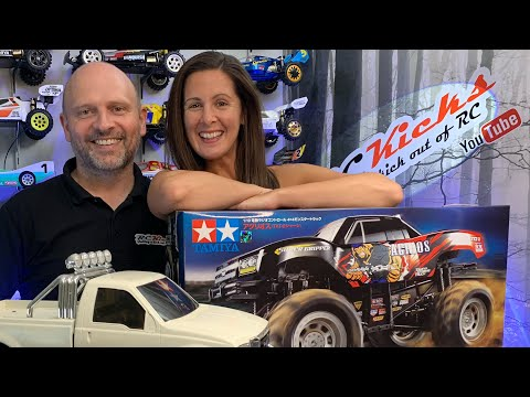 Rebecca Unboxes Her Next RC Build & I Acquire A Juggernaut 2 F350 Monster Truck By Tamiya Kit:58256