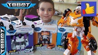 Тобот Х (ікс), W (дубль), З - поліцейська машинка Іграшки роботи трансформери - розпакування та огляд