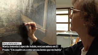Antonia López de Asiaín, restauradora en El Prado: