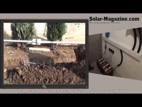 Installation of PV solar panels and wind generator 600W
