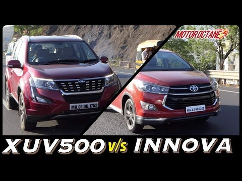 Toyota Innova Crysta vs Mahindra XUV500 2018 Comparison in Hindi | MotorOctane