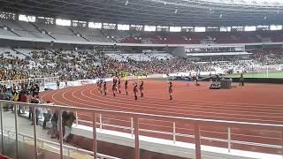 Terhibur... gadis jepang  dalam Laga Persahabatan FC bhayangkara VS FC Tokyo