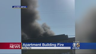 DALY CITY FIRE: 3-Alarm fire erupts at Daly City apartment house