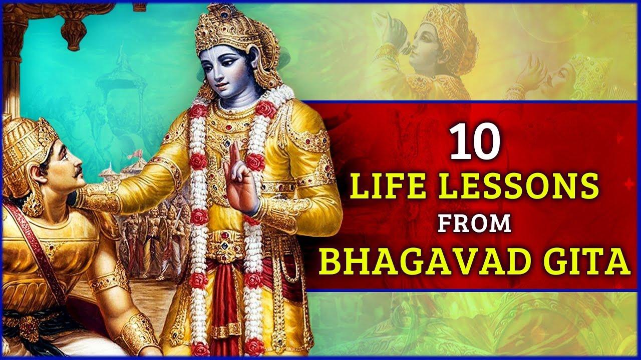 10 Life Changing Learning Facts Of Bhagavad Gita Bhagavad Geeta Quotes Law Of Karma भ गवत ग त Youtube