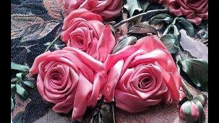 Роза - вышивка лентами