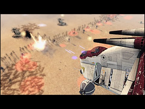 CLONE AIR LANDING REINFORCEMENTS – Star Wars: Galaxy at War Mod Gameplay