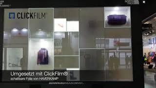 Schaltbare Folie verwendet bei Events und Messebau | HAVERKAMP ClickFilm
