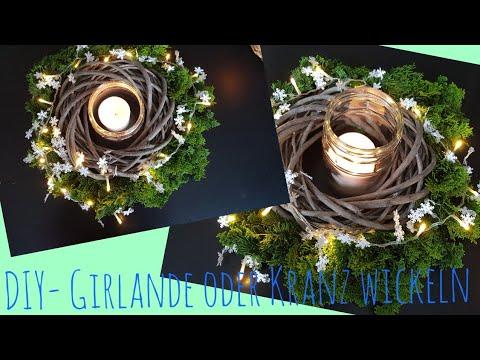 Girlande Binden diy girlande oder kranz wickeln weihnachten kranz binden