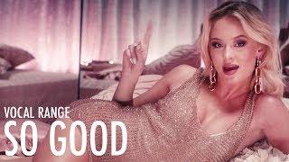 Zara Larsson's Vocal Range: So Good | D3 - G5 - Bb5