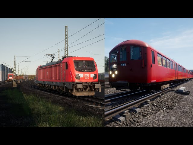 Testing the two red ones - DB BR 187 and 1938 Tube Stock