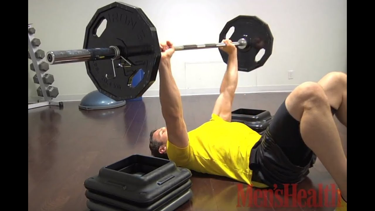 How to Do the Barbell Floor Press - Men