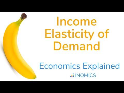 Income Elasticity Of Demand Economic Term Definition Example