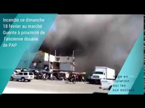 Incendie ce dimanche 18 février au marche Guerite