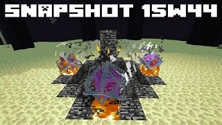 Minecraft 1.9 Snapshot 15w44 - RESPAWNING ENDERDRAGON & OLD GOLDEN APPLES
