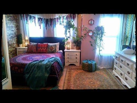 bohemian gypsy bedroom tour youtube