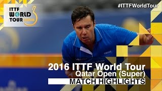 2016 Qatar Open Highlights: Vladimir Samsonov vs Alexander Shibaev (R16)(Review all the highlights from the Vladimir Samsonov vs Alexander Shibaev (R16) from the Qatar Open 2016 Subscribe here for more official Table Tennis ..., 2016-03-26T15:49:25.000Z)