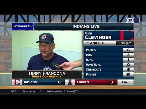 Cleveland Indians skipper Terry Francona praises team all-around after series opening win at L.A.