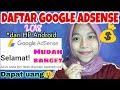 CARA DAFTAR GOOGLE ADSENSE 2019 dari HP Android Cara Dapat Uang dari Youtube by Khairunnisa Adlina