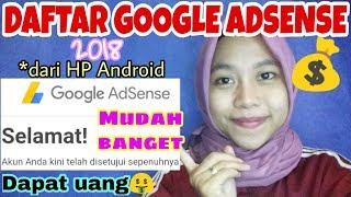 CARA DAFTAR GOOGLE ADSENSE 2018 dari HP Android | Cara Dapat Uang dari Youtube by Khairunnisa Adlina thumbnail