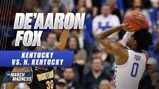 Kentucky's De'Aaron Fox scores 19 points in win vs. the Norse