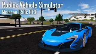 Simulateur de véhicule Roblox - McLaren 650s GT3