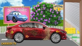 Car Wash and RAD CAR IN Toy Garage For Kids