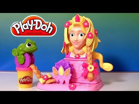 Play Doh Princess Rapunzel Hair Designs Playset From Disney Tangled