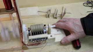 Moteur électrique à solénoïde fait maison/Home Made Solenoid Engine