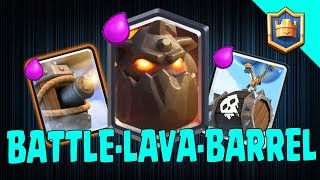 AIR ATTACK!!! Lavahound + Flying Machine + Skeleton Barrel! Grand Challenge Deck - Clash Royale