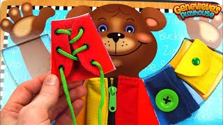 Teddy Bear Puzzle Teaches Kids Zippers, Buttons, and Belts!