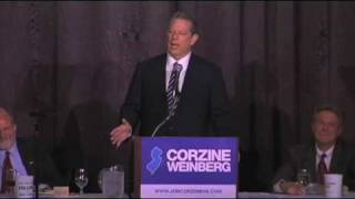 """Elections Matter"" - Al Gore Endorses Jon Corzine"