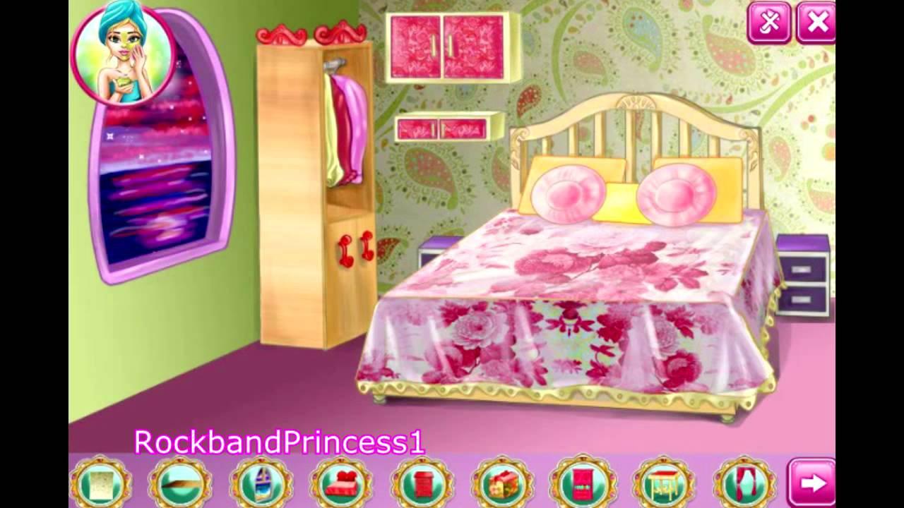 barbie decoration games house decoration game barbie decorating room game youtube - Bedroom Design Games