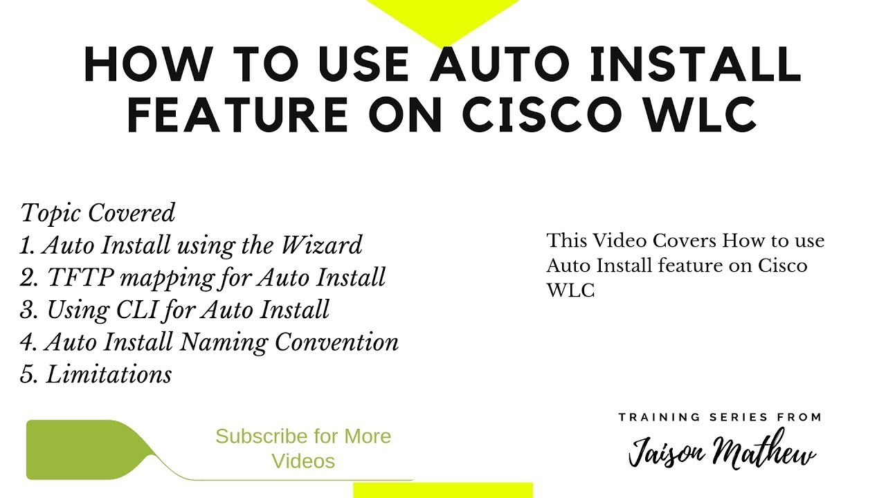 How to use AutoInstall feature on Cisco WLC