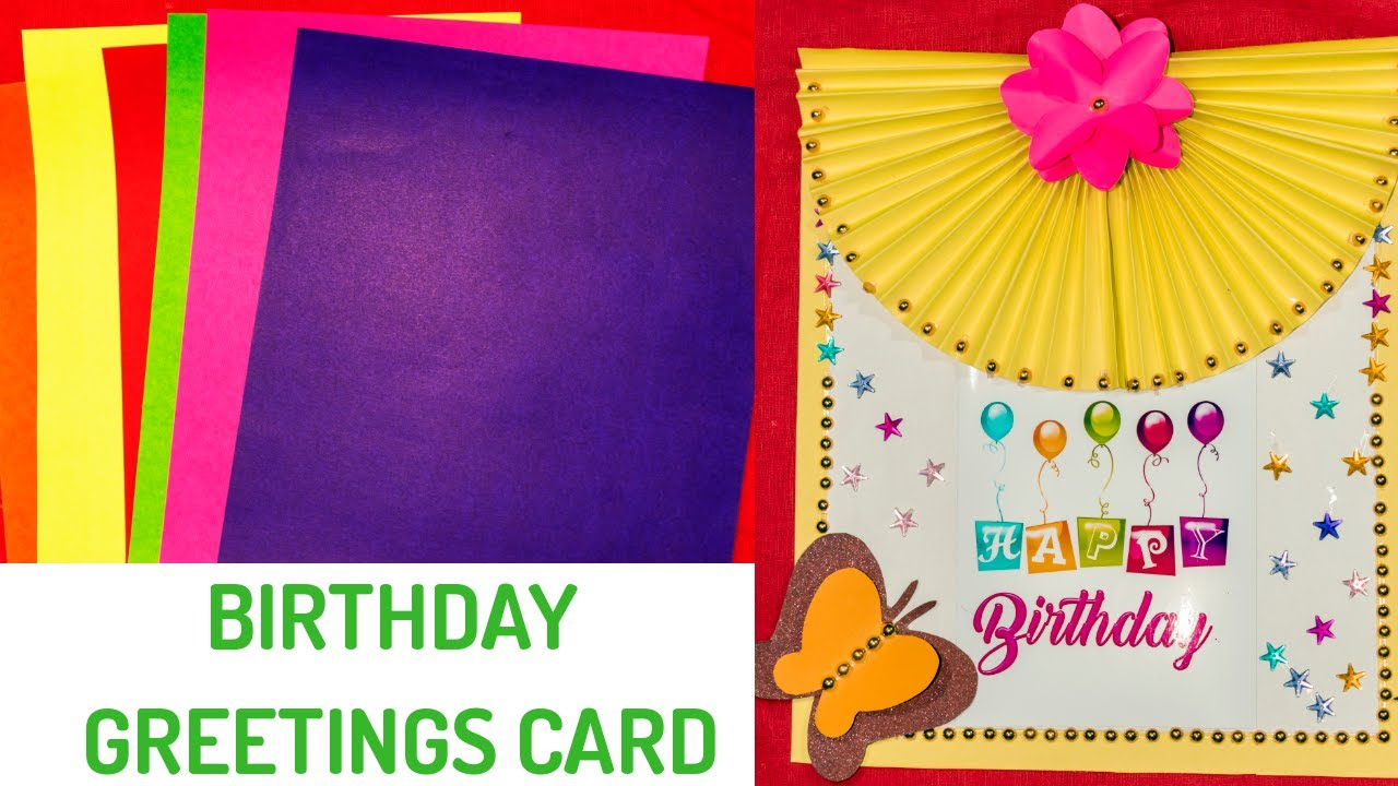 birthday greeting card craft idea  birthday greeting