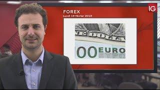 Bourse - EUR/USD, surveiller test des zones support - IG 19.02.2018