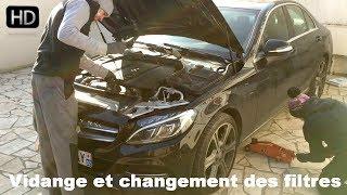 Faire la Vidange et changer les filtres sur Mercedes Classe C