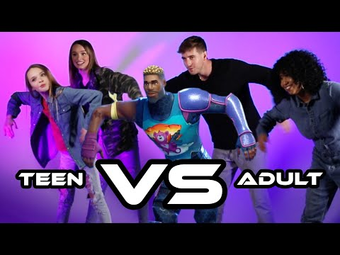 Teen Vs Adult Fortnite Dance Challenge