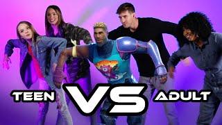 Teen Vs Adult Fortnite Dance Challenge (Ft. Taylor & Reese Hatala)