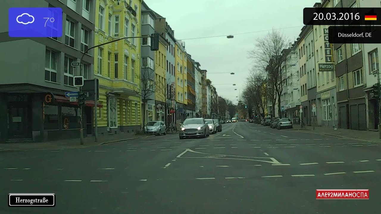 driving through nordrhein westfalen germany from neuss to d sseldorf timelapse x4. Black Bedroom Furniture Sets. Home Design Ideas