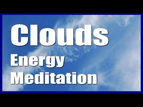 Energy Meditation Music Video  Meditation On White Clouds