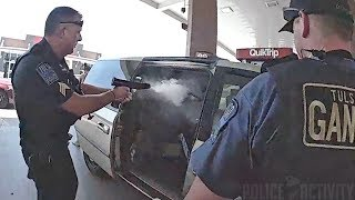 Bodycam Footage Shows Police Shootout in Tulsa, Oklahoma thumbnail