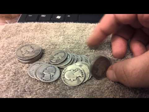 90 percent US Silver Coin Unboxing