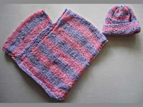 Hand Knit Baby Poncho - YouTube