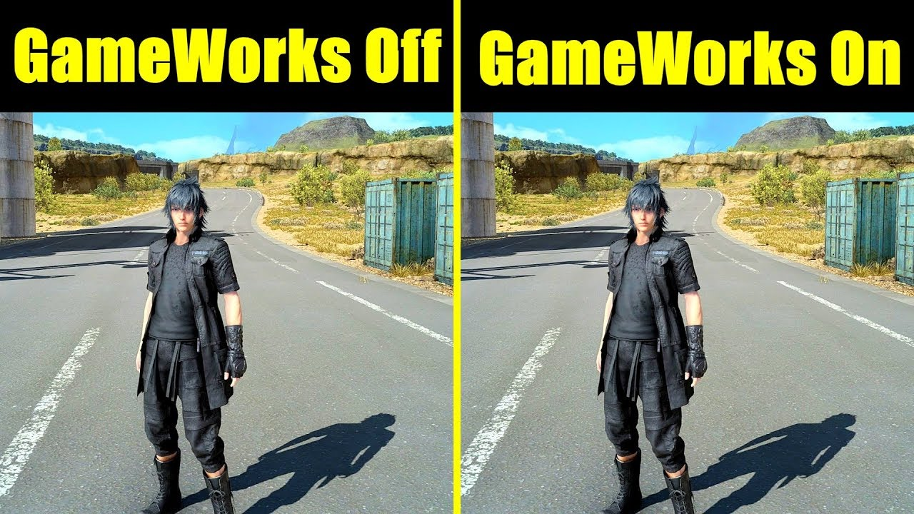 Final Fantasy XV Nvdia GameWorks On Vs GameWorks Off GTX 1080 TI 8700K  Frame Rate Comparison