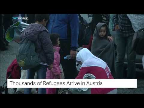 TRT World: Thousands of refugees arrive in Austria