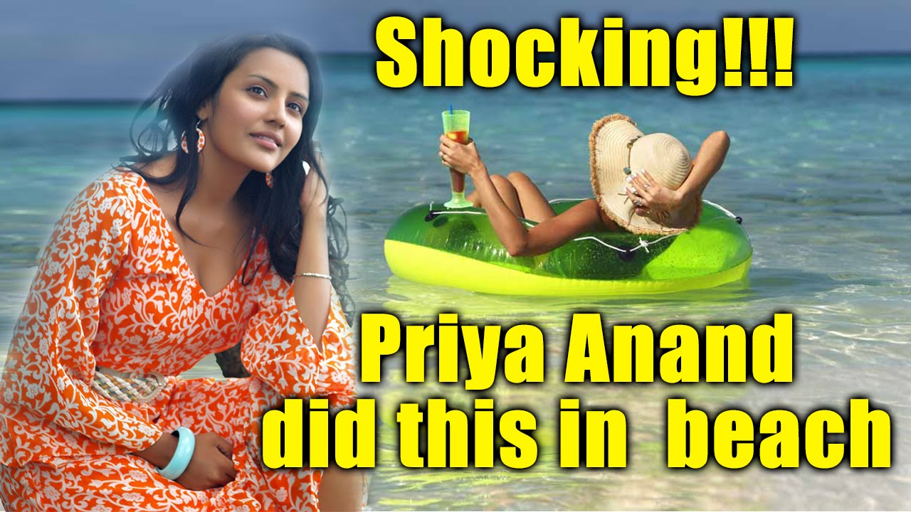 Priya Anand Looking Hot on Beach   Playing with Dog   Video Inside   Exclusive Footage