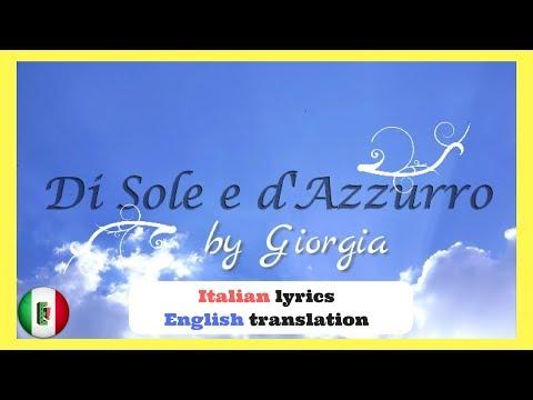 Di Sole e d'Azzurro by Giorgia Italian lyrics and English translations