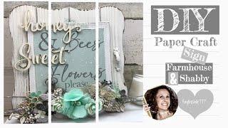 DIY Shabby Farmhouse Sign | DIY Farmhouse Sign | DIY Farmhouse Spring Craft | Reneabouquets