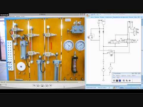 Circuito Hidraulico : Circuito hidraulico uso del acumulador de presion wmv youtube