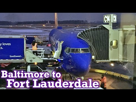 Full Flight: Southwest Airlines B737-800 Baltimore to Fort Lauderdale (BWI-FLL)